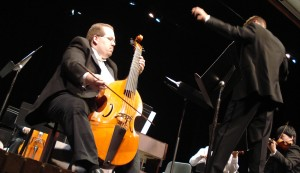 Performing as Viola da Gamba Soloist in a Concerto with the Naperville North Renaissance Strings Project through Viols in Our Schools