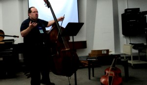 Presenting at the 2013 H.I.P. Symposium at the Convention of the International Society of Bassists