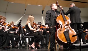 Performing the Bottesini Concerto No.2 for Double Bass and Orchestra as Part of School Outreach