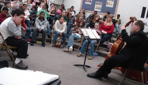 Performing on Viols as Music Director of the Viols in Our Schools Program - Winning the 2010 Early Music America Outreach Award