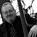 Black & White Headshot 8X10 with Double Bass