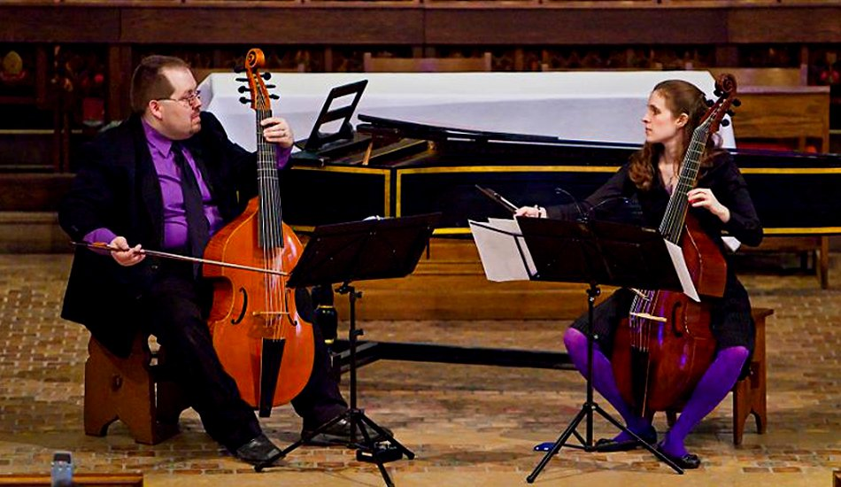 Phillip Serna Performing with the period-instrument ensemble Duo Fantaisie en écho in Ann Arbor, MI.
