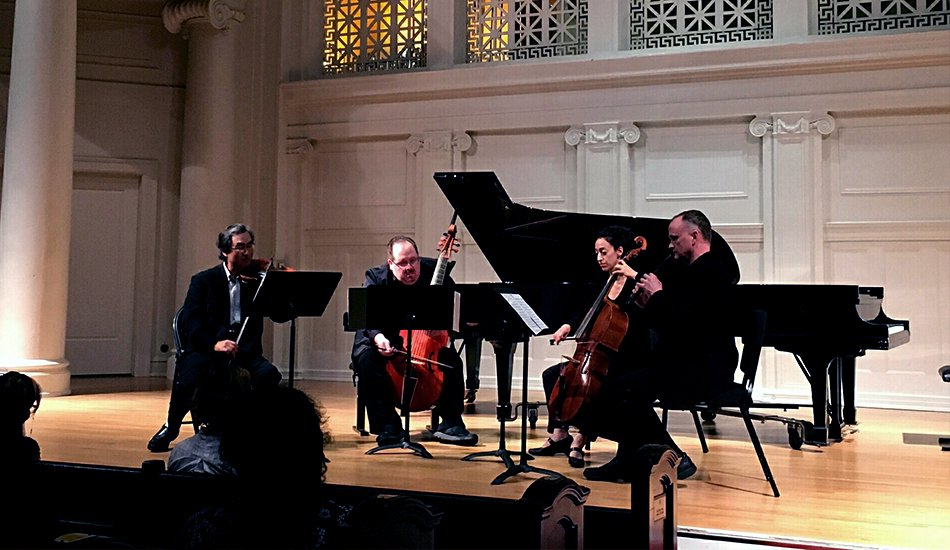 Phillip Serna Performing with the period-instrument faculty of the Music Institute of Chicago in Evanston, IL.