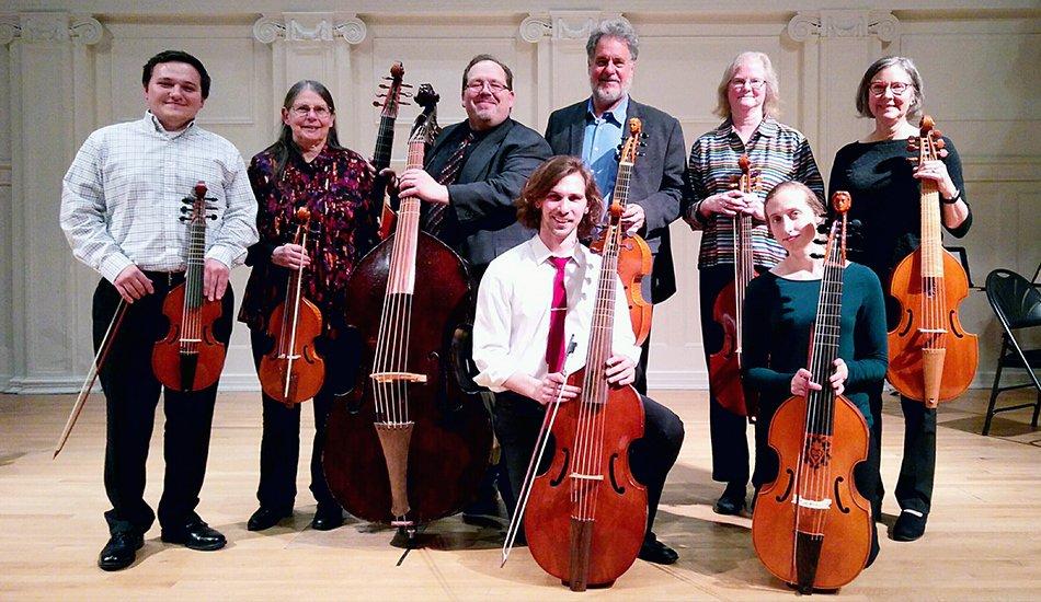 Phillip Serna directing the Music Institute of Chicago's viola da gamba students.