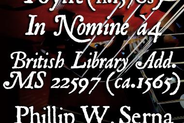 Poynt (fl.1570s) - In Nomine à4, British Library Add. MS 22597 (ca.1565)