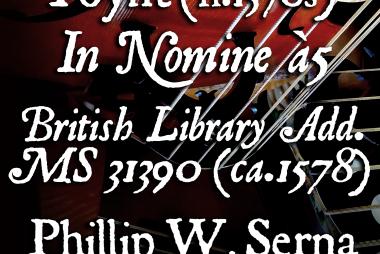 Poynt (fl.1570s) - In Nomine à5, British Library Add. MS 31390 (ca.1578)